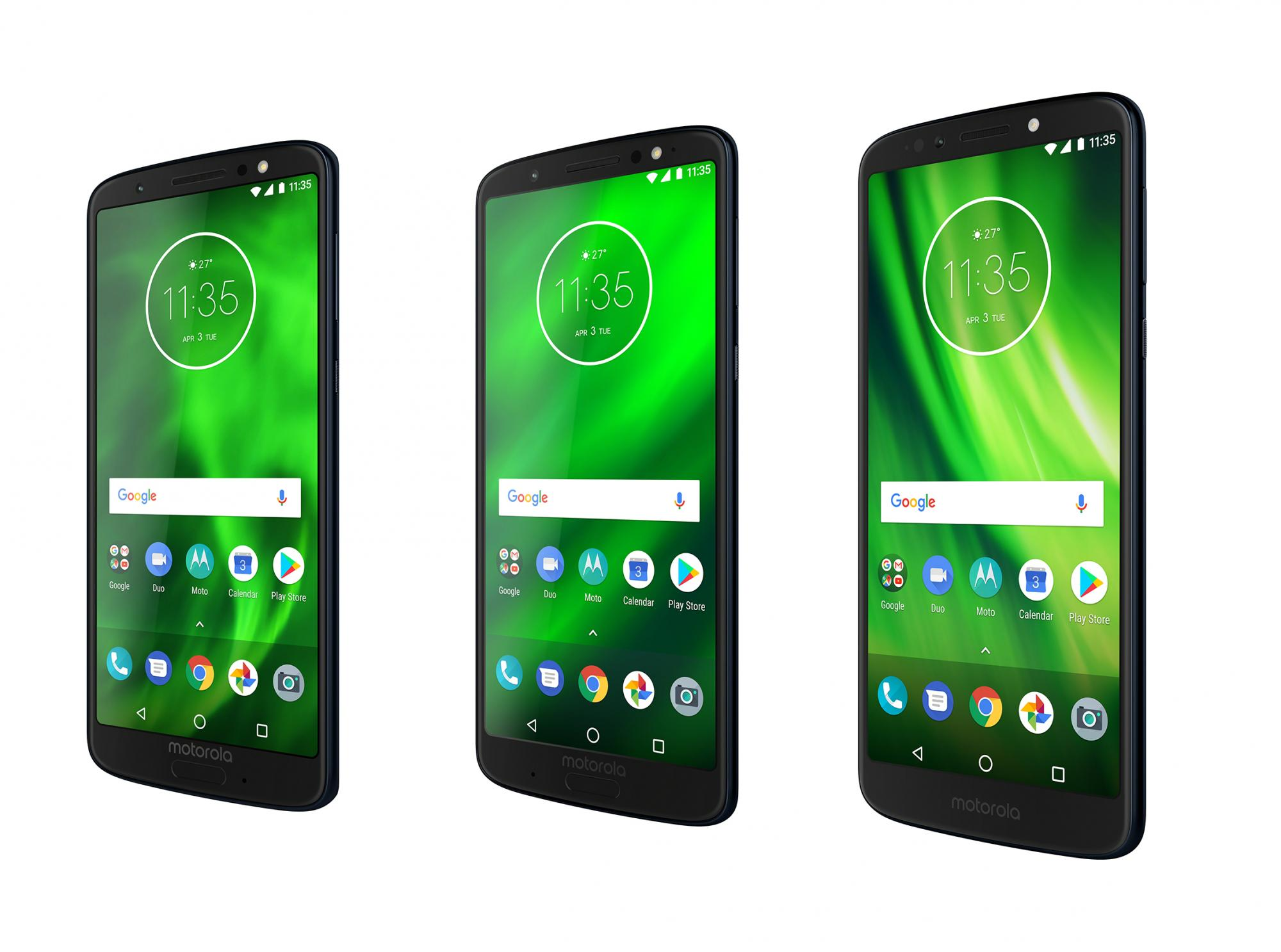 Motorola launches the Moto G6, G6 Plus and G6 Play