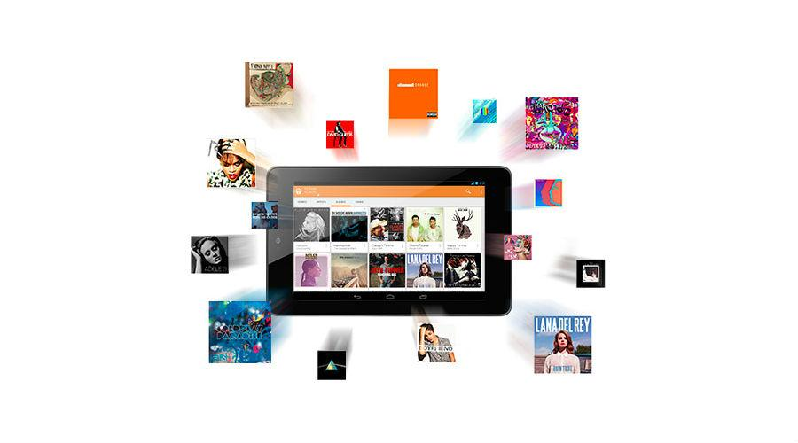 how to access google play music files